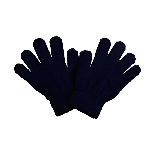 Price comparison product image Big Kids Gloves Magic Knit Gloves unisex Solid Colors - Navy