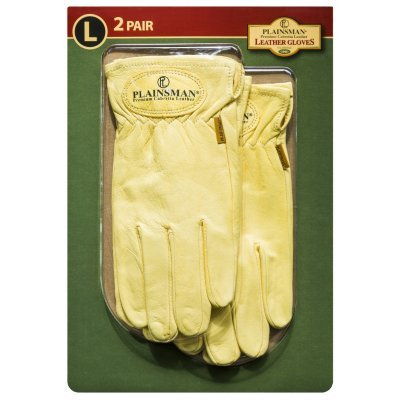 Plainsman Cabretta Leather Gloves- Large - 2 Pair ()