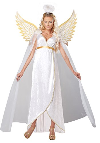 Angel Halloween Costumes Womens (California Costumes Women's Guardian Angel Adult, White, Large)