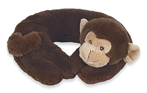 Bearington Baby Travel Pillow Head Positioner GIGGLES BROWN MONKEY soft gift