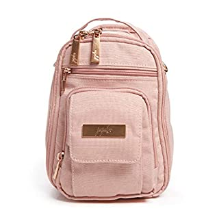 JuJuBe Mini BRB Backpack | Blush | Chromatics | Travel-Friendly Diaper Bag, Machine Washable Daypack, Compact Stylish Mini Backpack Purse, Adjustable Straps, for Kids and Adults