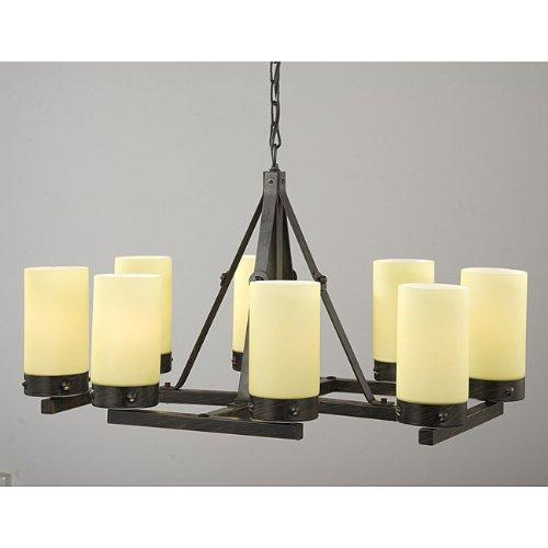 [Jojospring Antique Linear 8-light Chandelier] (8 Light Linear Chandelier)