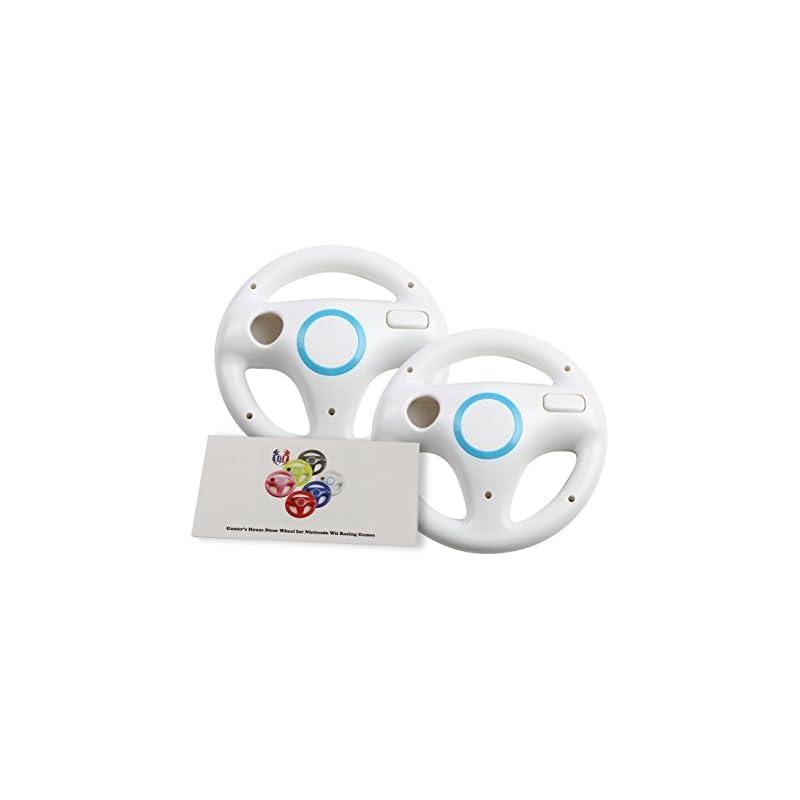 Golden Bell Mario Kart Racing Wheel For Nintendo Wii 2 Packs