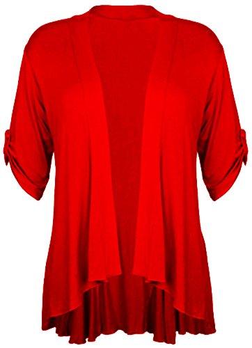 Kimono Nouveau Waterfall Pickle Chocolate Cardigan Size Femmes Plus Jumbo red ZXWxBqfa