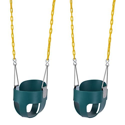 Lovely Snail 2 Pack Toddler Swing Seat-High Back Full Bucket Swing Seat with 66