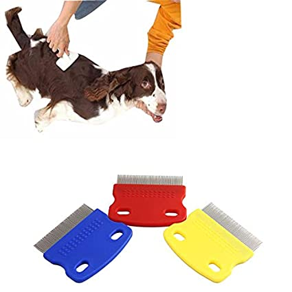 Pet Products Pet Hair Comb Cat Dog Puppy Grooming Steel Small Fine Toothed Pet Flea Comb New Professional Pet Supplies