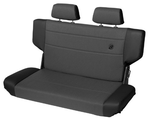 Bestop 39439-15 TrailMax II Fold and Tumble Black Denim Vinyl with Fabric Insert Rear Bench Seat for 1997-2006 Wrangler