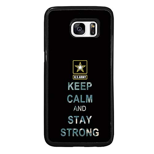 FIDIKO US Army Quote Hard Case Compatible Samsung S7 Edge, Cute Keep Calm and Stay Strong Hard Plastic Durable | Anti Scratch Hard Back Compatible Samsung Galaxy S7 Edge]()