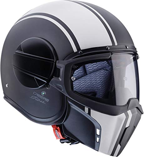 Amazon.es: Caberg Ghost Legend fibra de vidrio de casco jet Mate Negro de color blanco