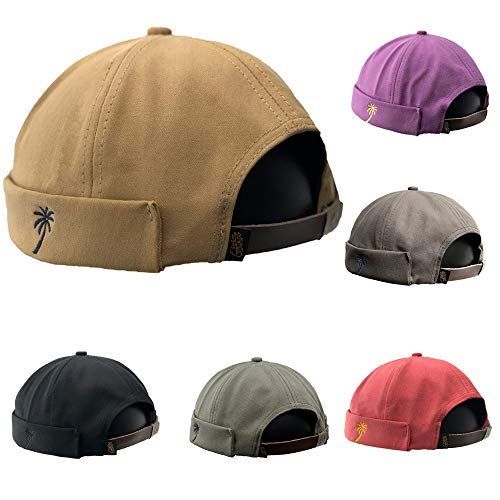 54-61 cm Cotton Docker Cap Men Harbour Hat in Various Colours   Cap with Hook-and-Loop Closure Summer Winter Hat Made of 100/% Cotton Docker Cap in one Size