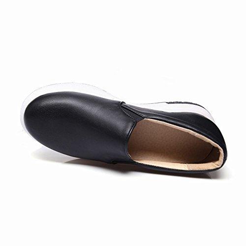 Charm Foot Womens Platform Casual Mocassini Con Tacco Basso Scarpe Nere