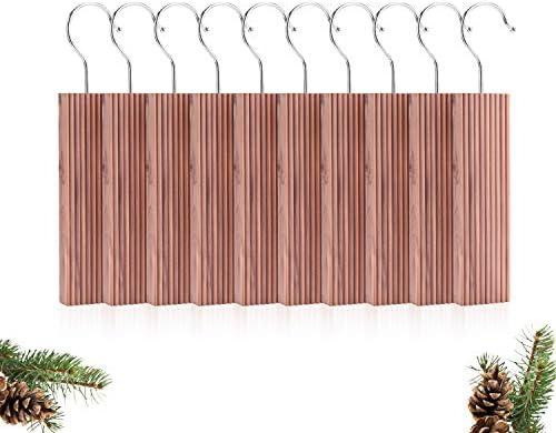 Moho y Humedad para f/ácil Cuidado de la Ropa Antipolillas Natural,Repelente de polillas 10 Piezas EKKONG 10 Piezas De Madera De Cedro