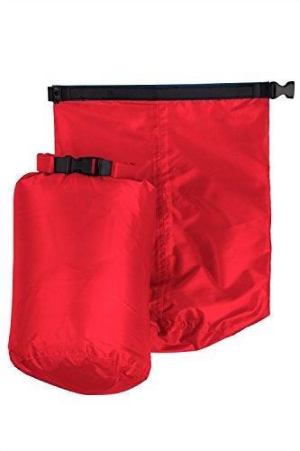 Mountain Warehouse Conjunto de bolsas impermeables de 3 y 7 l Rojo Talla única Rojo