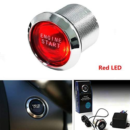 High Performance Red LED Illumination Ignition Starter Car Engine Start Push Button Switch Kit