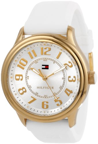 Tommy Hilfiger Women's 1781288  Casual Sport White Silicon Gold-Plated Watch