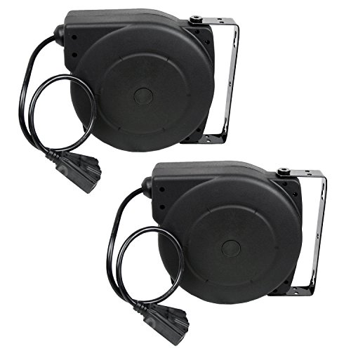 Alemite 7262-A 40-Feet 12/3 Retractable Extension Cord Reel, 2-Pack by Alemite