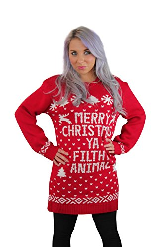 CelbLook Mens Ladies MERRY XMAS CHRISTMAS YA FILTHY ANIMAL -