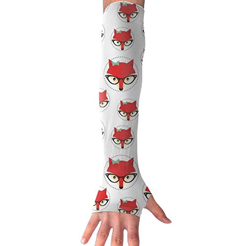 Unisex Fox Cute Sunscreen Outdoor Travel Arm Warmer Long Sleeves Glove by Suining