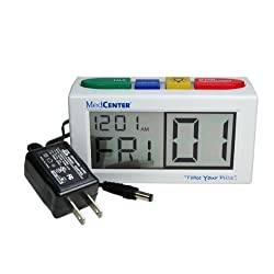 MedCenter 4 Alarm Talking Reminder Clock with AC Adapter 7095-1 by MedCenter