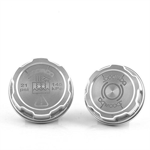Ford Fiesta ST Boomba Racing Brake Fluid Coolant Tank Cap Covers SILVER for 14