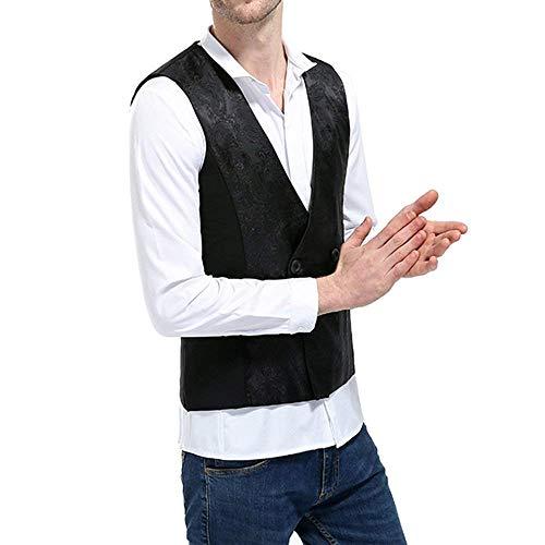 Schwarz Blazer V D'affaires Gilet Hommes Fit Jeune Élégant Veste Homme Slim Gilets Cou fxww75pnvq