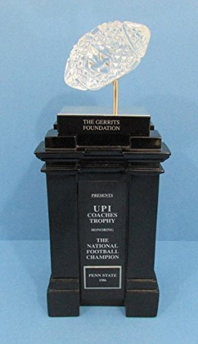 1986 Penn State NCAA Football National Championship Waterford Crystal Trophy