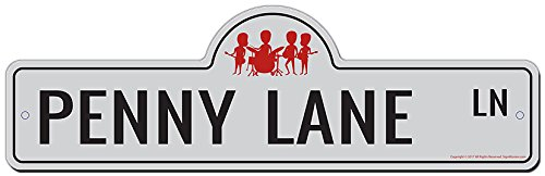 SignMission Penny Lane Street Sign | Indoor/Outdoor | Funny Home Décor for Garages, Living Rooms, Bedroom, Offices Personalized Gift from SignMission