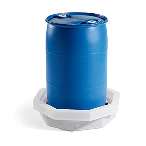 New Pig DRM371 LDPE Octagonal Drum Spill Tray with Grate, 6 Gallon Sump Capacity, 32-1/4