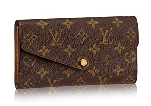 Sarah Style Monogram Canvas Wallet