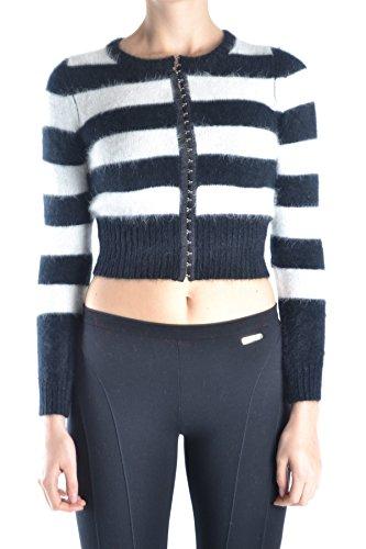 Dolce e Gabbana Women's Mcbi099242o White/Black Wool Cardigan Dolce & Gabbana Women Sweaters