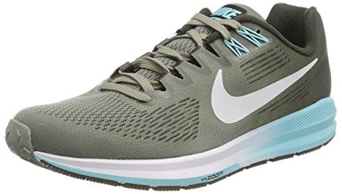 Nike Running Donna Grigio sequ Da Air Structure Scarpe 21 Zoom Stucco Platinum pure W dark HHwrq0A