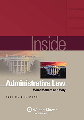 Pdf Law Inside Administrative Law: What Matters and Why (The Inside Series)