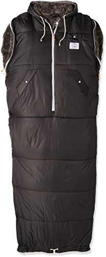 Poler Unisex The Shaggy Napsack Wearable Sleeping Bag, BLACK, LARGE by Poler