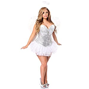 c0e843d362 Cheap Angel Costumes. Silver Sequin Angel Corset Costume (Daisy).  99.99 –   157.44. Halloween Costumes. Women s Top Drawer ...