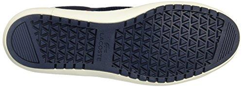 Lacoste Mens Genomgången Terra 316 1 Spm Läder Tränare Blue