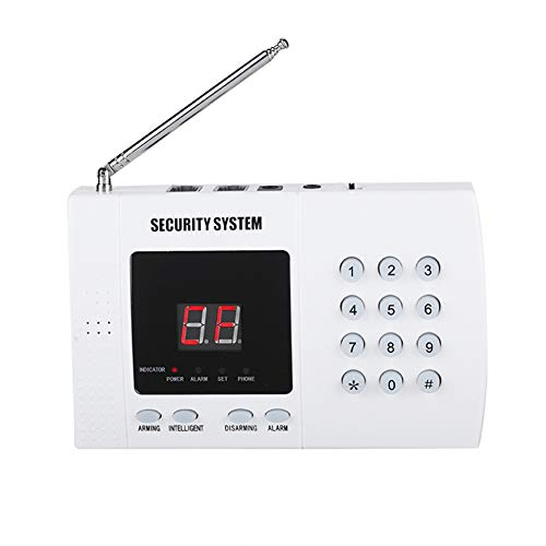 433 MHZ Wireless Home and Business Security Alarm System Auto Dialer Alarm System with PIR Sensor, Door/Window Sensor and Remote Control(US Plug)