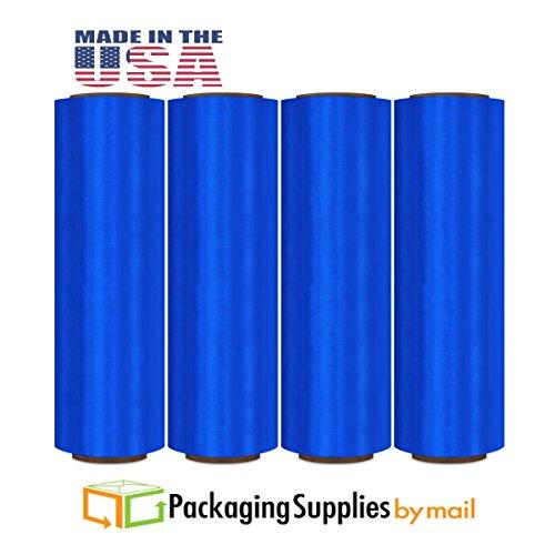 Film Color Stretch (17 Inch 1476 Feet Blue Hand Wrap Pre-stretch Film 4 Rolls/Case)
