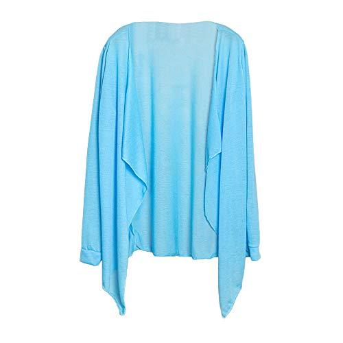 Femmes Femme Lâche Ciel Mode Mince Et Manteau Bleu Hauts Cardigan Honestyi De Sun Vêtements Modale Protection Long D'hiver 4xf5Yqw