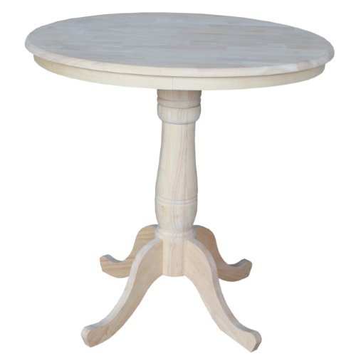 (International Concepts Round Top Adjustable Pedestal Table, Standard/Counter Height, 36-Inch)