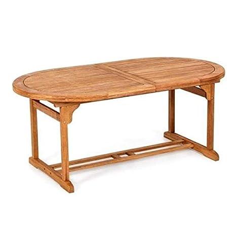 Mesa para exterior / jardín, de madera, extensible, 200/245/200 x ...