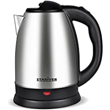 Electric Kettle Stainless Steel Cordless with Fast Boil, Auto Shut Off and Boil Dry Protection, Electric Tea Kettle - Classic Collection - Stariver