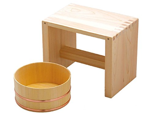 Youbido Wooden bath chair and bucket made in Japan