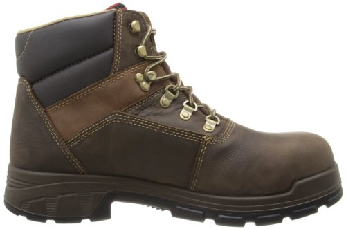 WOLVERINE WORLDWIDE - Cabor Waterproof Work Boots, Medium Width, Brown Nubuck Leather, Men's Size 12
