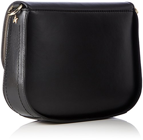 Tommy Hilfiger City Leather Saddle Bag - Borse a tracolla Donna, Blau (Black), 6x17x20 cm (B x H T)