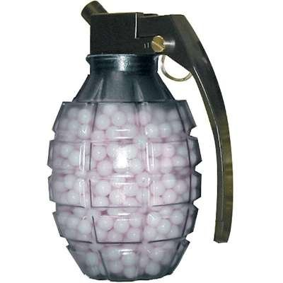 TSD Tactical 800 ct. Grenade Feeder Plastic White Airsoft BBs (6mm, 0.20g)