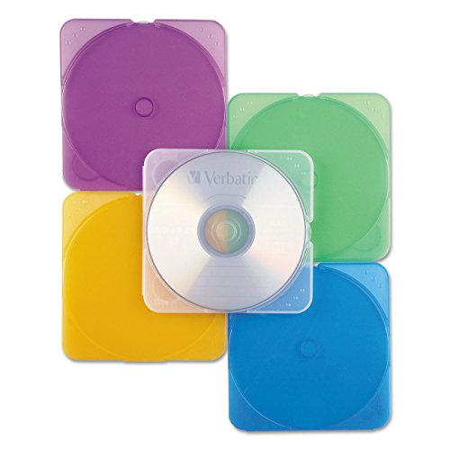 (Verbatim CD/DVD Color TRIMpak Cases - 10pk, Assorted)