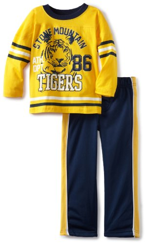 Little Rebels Little Boys' 2 Piece Stone Mountain Tigers Pant Set