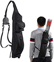 TOPARCHERY Archery Back Arrow Quiver Arrow Holder Shoulder Hanged Target Shooting Quiver for Arrows with Two F