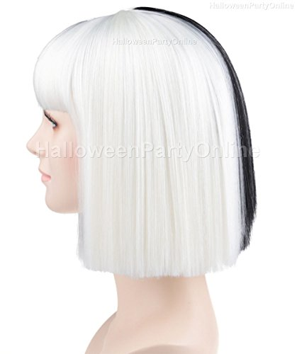 Amazon Halloween Party Online SIA Black White Wig Small Costume Cosplay HW 172 Beauty