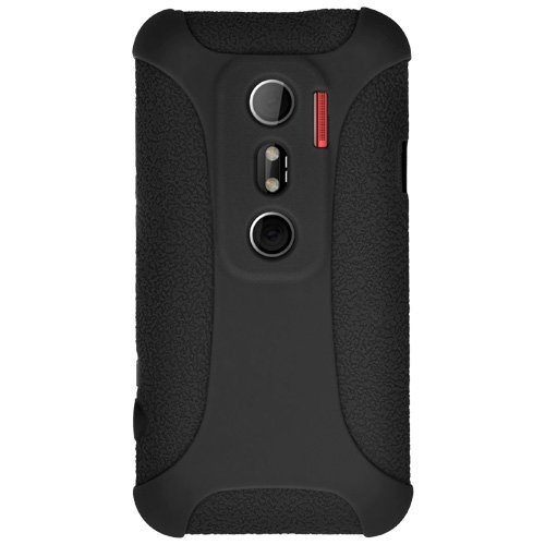 (Amzer Silicone Skin Jelly Case for HTC EVO 3D - Black - 1 Pack - Case)